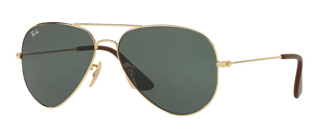 Ray Ban - RB 3558 (RB 3558, Rahmen: Gold, Glas: Green)